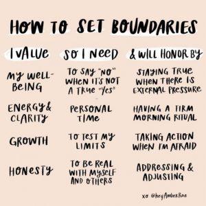 boundaries for you